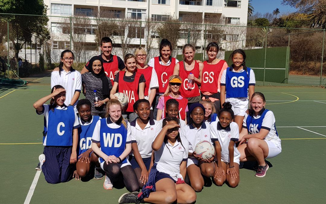 Teachers vs Open team Netball