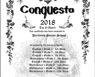 We're in the Conquesta Top 20 again!