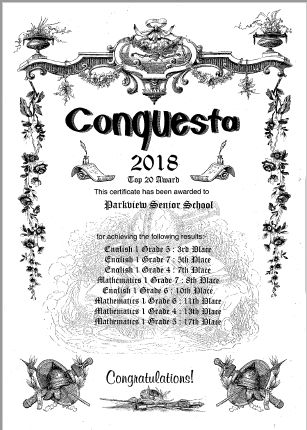 We're in the Conquesta Top 20 again!